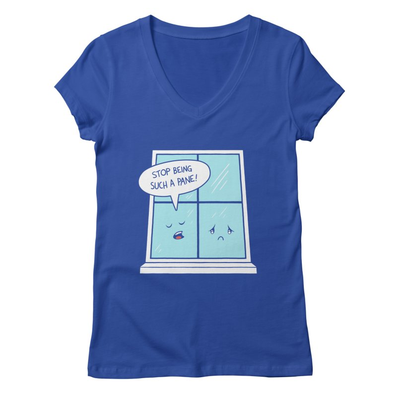 A Pane in the Glass Women's Regular V-Neck by Lupi Art + Illustration
