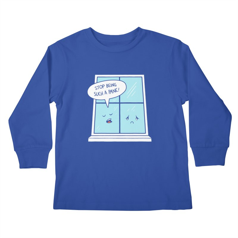 A Pane in the Glass Kids Longsleeve T-Shirt by Lupi Art + Illustration