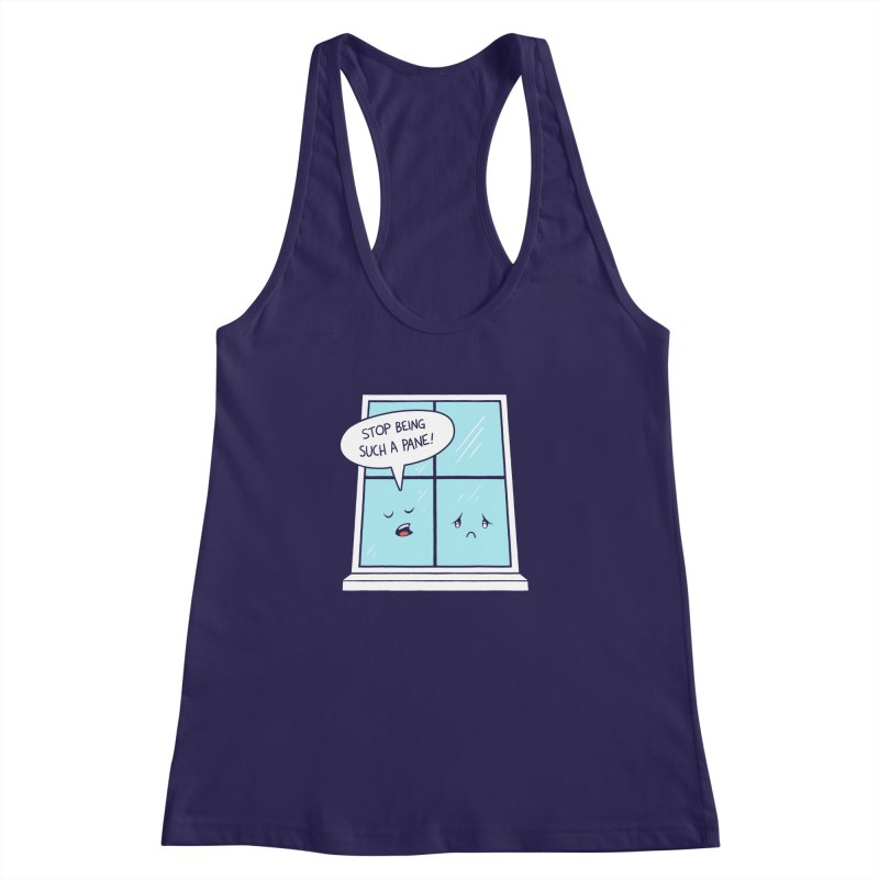 A Pane in the Glass Women's Racerback Tank by Lupi Art + Illustration