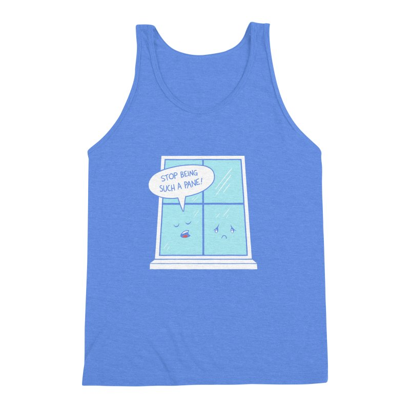 A Pane in the Glass Men's Triblend Tank by Lupi Art + Illustration
