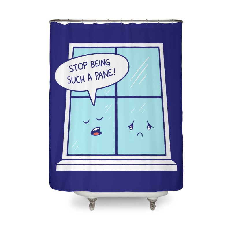 A Pane in the Glass Home Shower Curtain by Lupi Art + Illustration