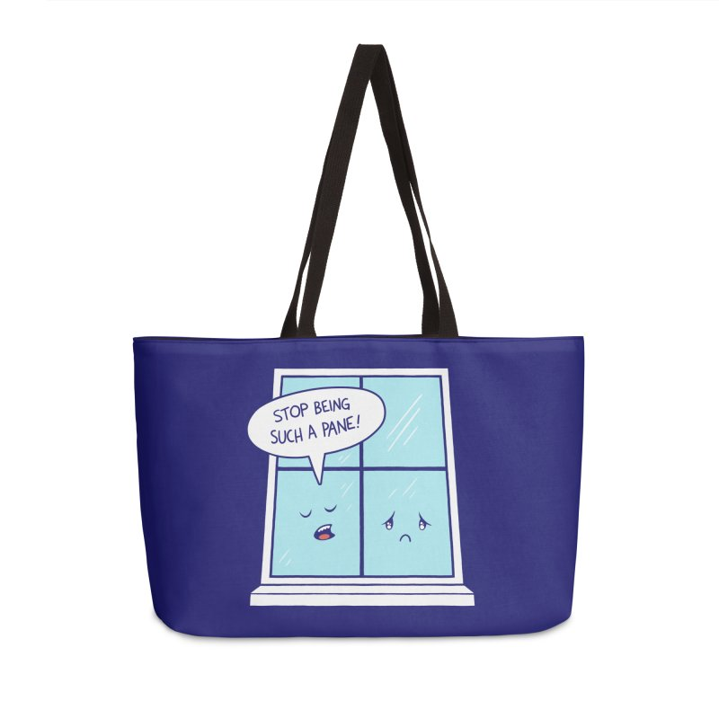 A Pane in the Glass Accessories Weekender Bag Bag by Lupi Art + Illustration