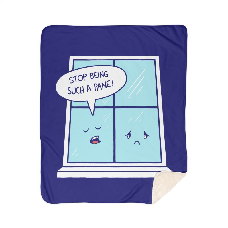 A Pane in the Glass Home Sherpa Blanket Blanket by Lupi Art + Illustration