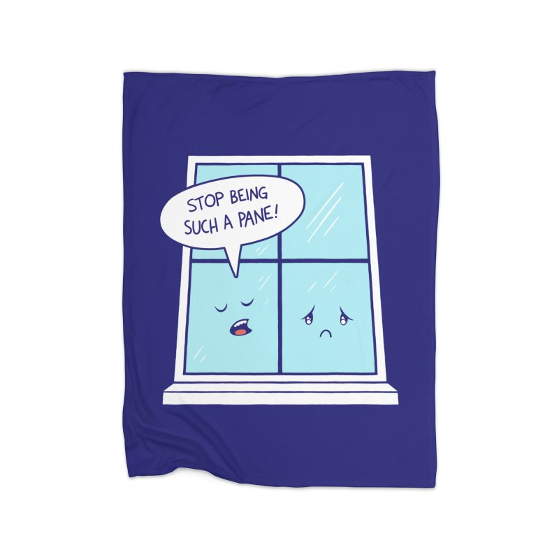 A Pane in the Glass Home Fleece Blanket Blanket by Lupi Art + Illustration