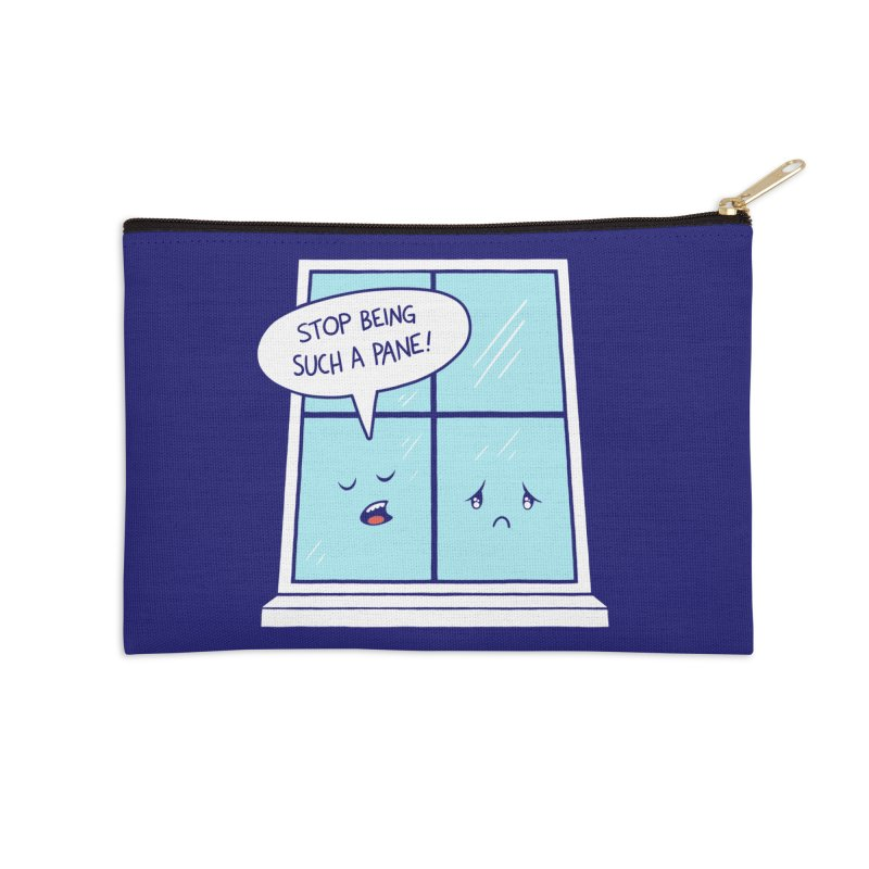 A Pane in the Glass Accessories Zip Pouch by Lupi Art + Illustration