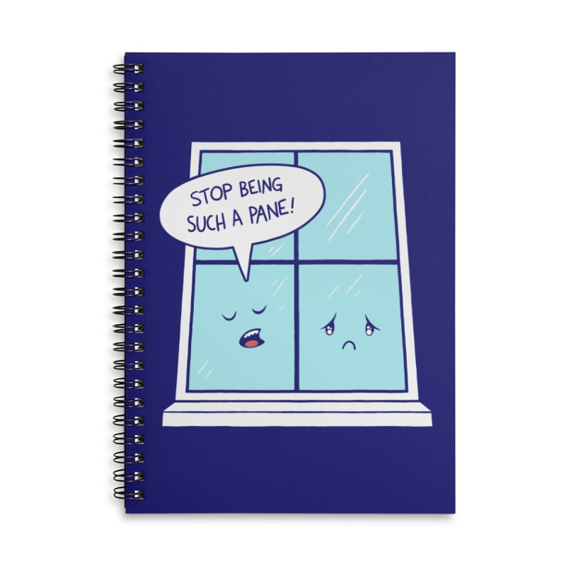 A Pane in the Glass Accessories Lined Spiral Notebook by Lupi Art + Illustration