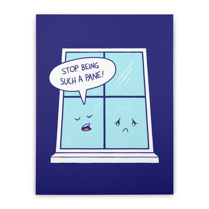 A Pane in the Glass Home Stretched Canvas by Lupi Art + Illustration