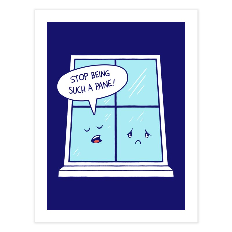 A Pane in the Glass Home Fine Art Print by Lupi Art + Illustration