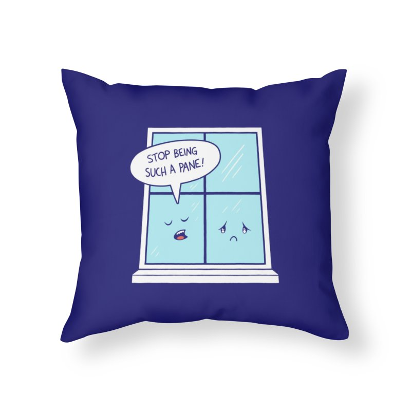 A Pane in the Glass Home Throw Pillow by Lupi Art + Illustration