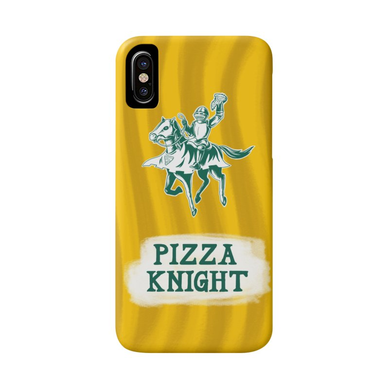 Pizza Knight with Text Accessories Phone Case by Lupi Art + Illustration