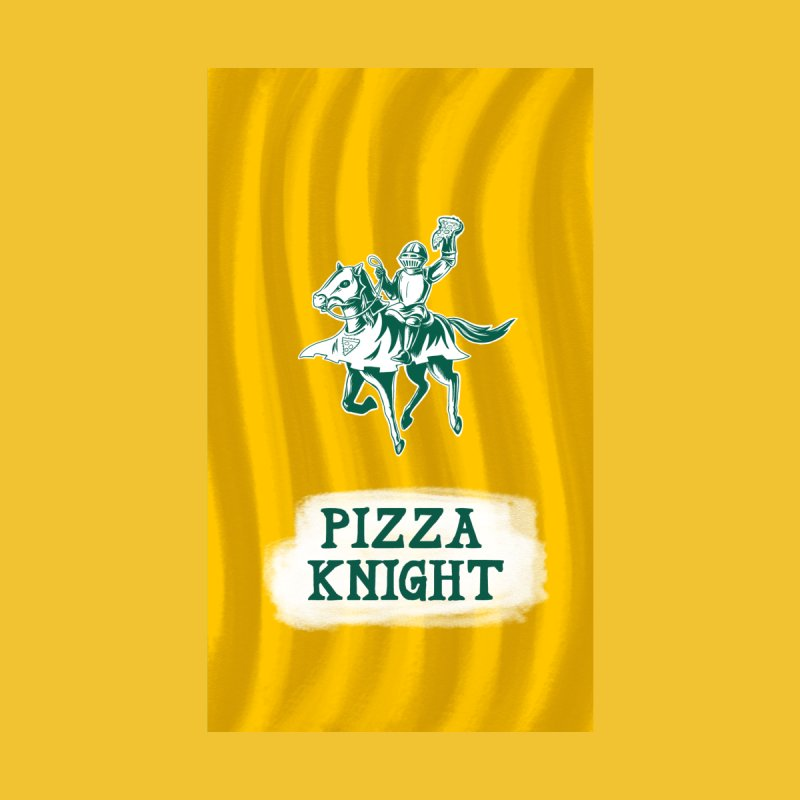 Pizza Knight with Text by Lupi Art + Illustration