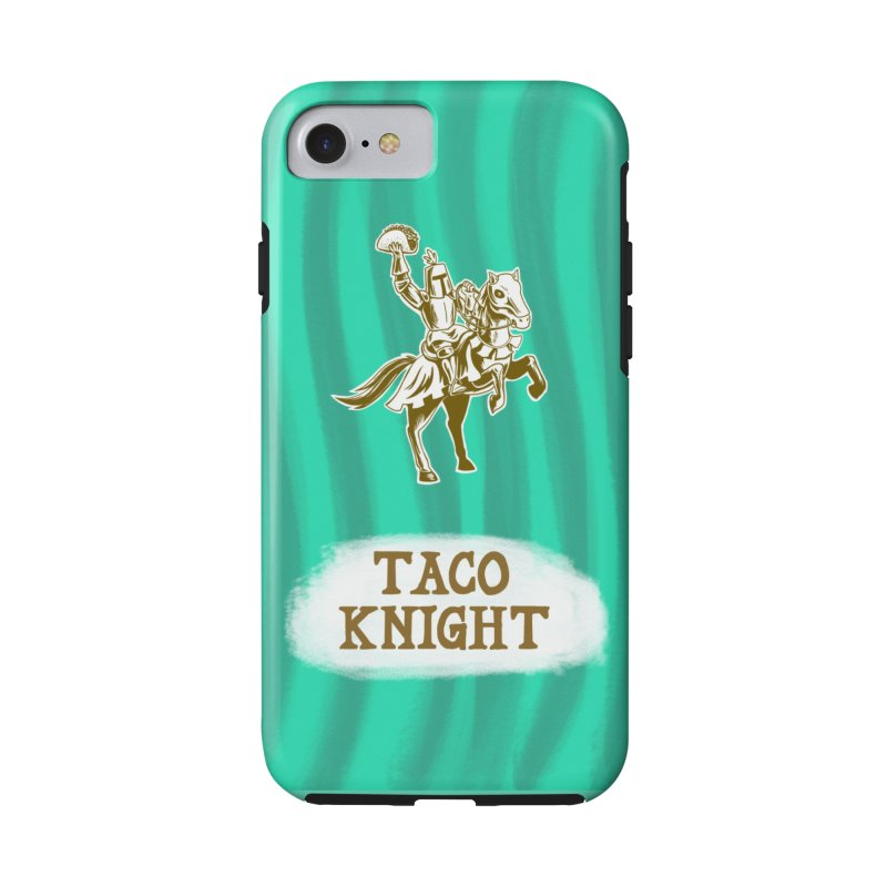 Taco Knight with Text Accessories Phone Case by Lupi Art + Illustration