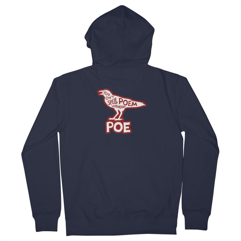 Poe(m) Men's French Terry Zip-Up Hoody by Lupi Art + Illustration