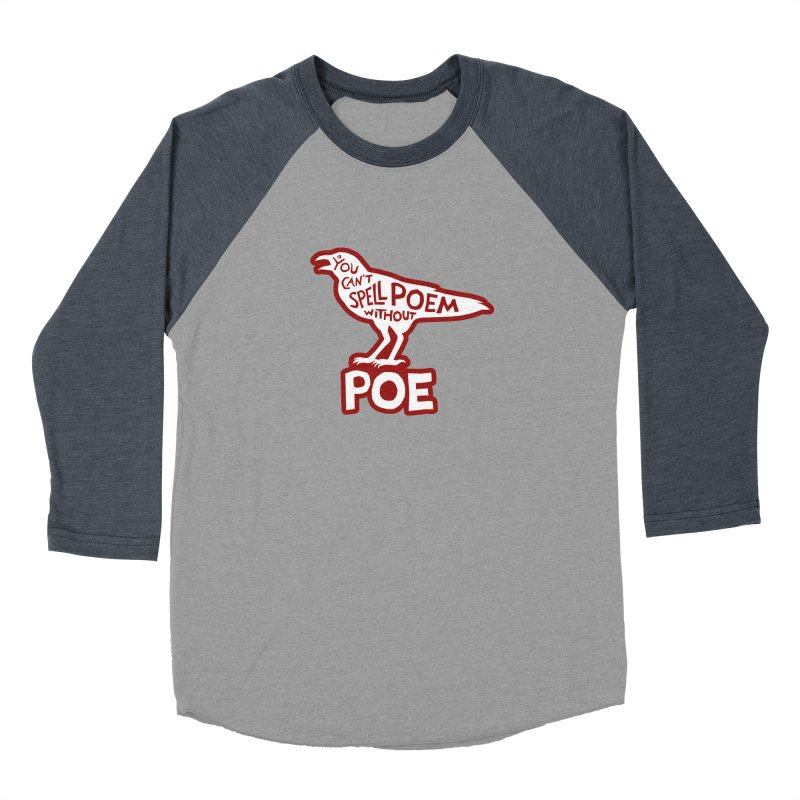 Poe(m) Women's Baseball Triblend Longsleeve T-Shirt by Lupi Art + Illustration