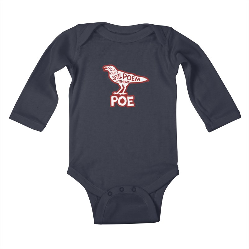 Poe(m) Kids Baby Longsleeve Bodysuit by Lupi Art + Illustration