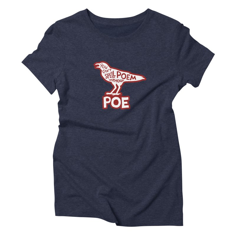 Poe(m) Fitted T-Shirt by Lupi Art + Illustration