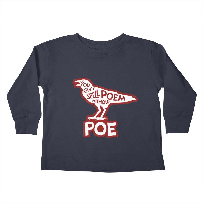 Poe(m) Kids Toddler Longsleeve T-Shirt by Lupi Art + Illustration