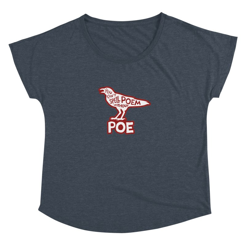 Poe(m) Women's Dolman Scoop Neck by Lupi Art + Illustration