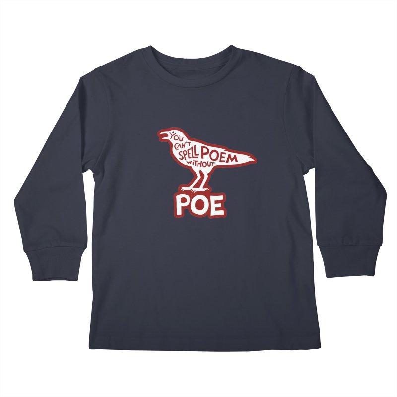 Poe(m) Kids Longsleeve T-Shirt by Lupi Art + Illustration