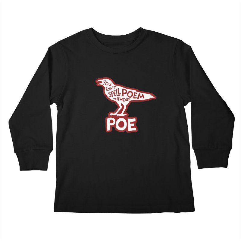 Poe(m) Kids Longsleeve T-Shirt by Lupi Art + Illustration