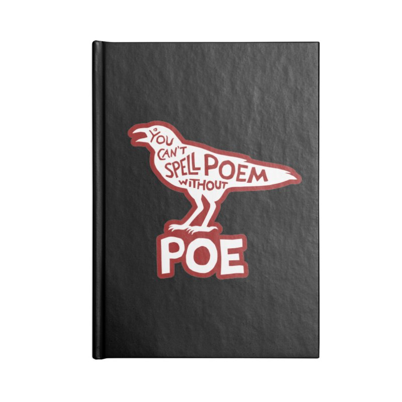 Poe(m) in Blank Journal Notebook by Lupi Art + Illustration