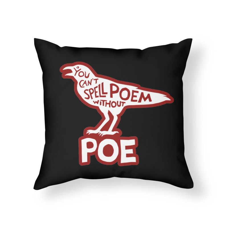 Poe(m) Home Throw Pillow by Lupi Art + Illustration