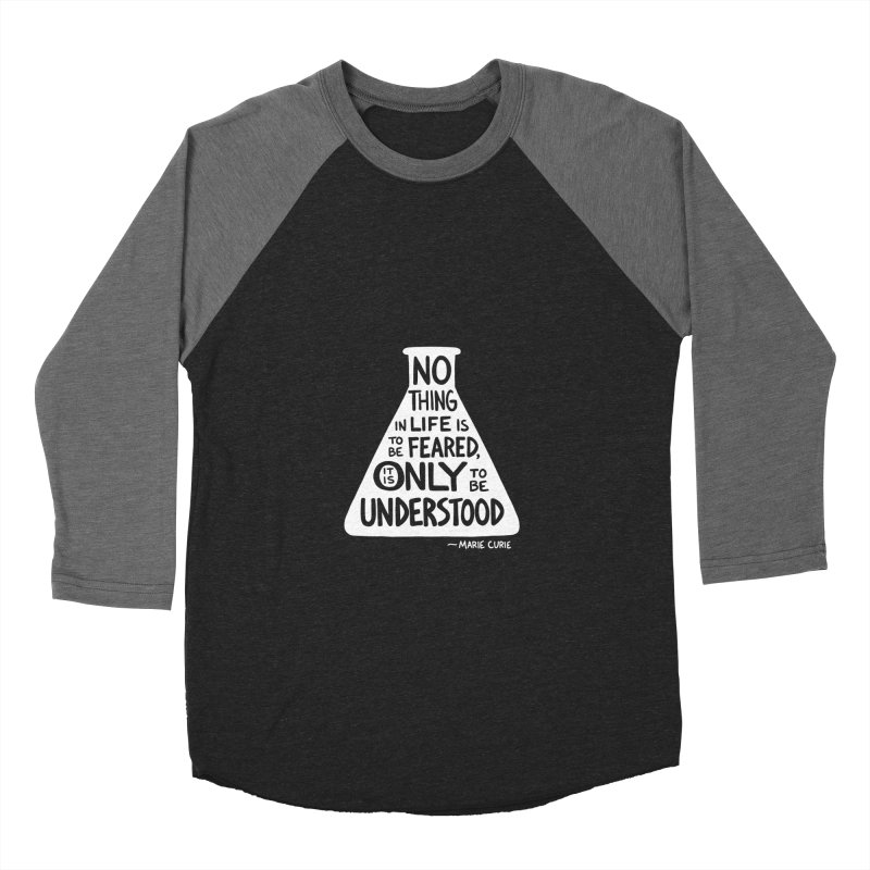 Curie Men's Baseball Triblend Longsleeve T-Shirt by Lupi Art + Illustration