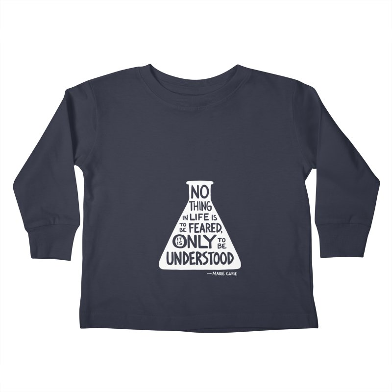 Curie Kids Toddler Longsleeve T-Shirt by Lupi Art + Illustration