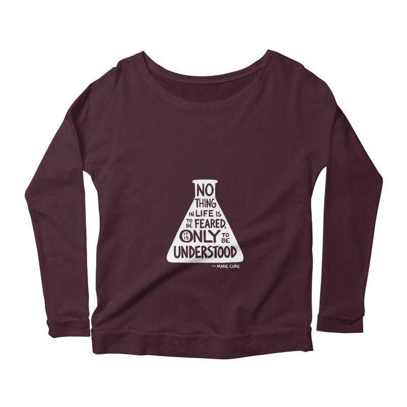 Curie Women's Scoop Neck Longsleeve T-Shirt by Lupi Art + Illustration