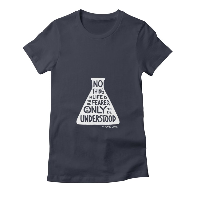 Curie Women's Fitted T-Shirt by Lupi Art + Illustration