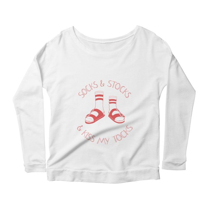 Socks 'n Stocks Women's Scoop Neck Longsleeve T-Shirt by Lupi Art + Illustration