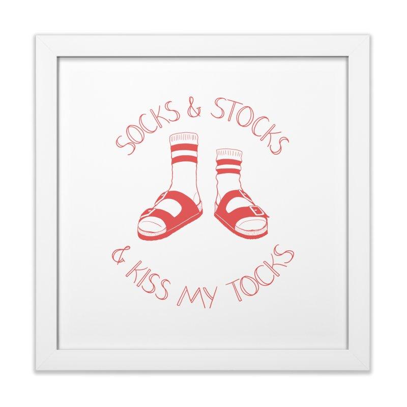 Socks 'n Stocks Home Framed Fine Art Print by Lupi Art + Illustration