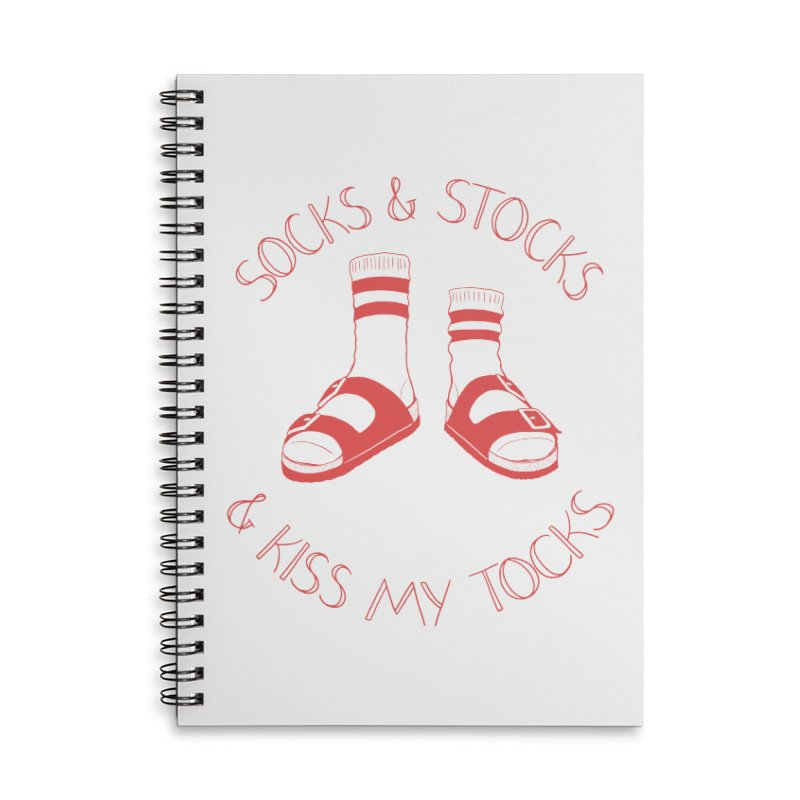 Socks 'n Stocks Accessories Lined Spiral Notebook by Lupi Art + Illustration