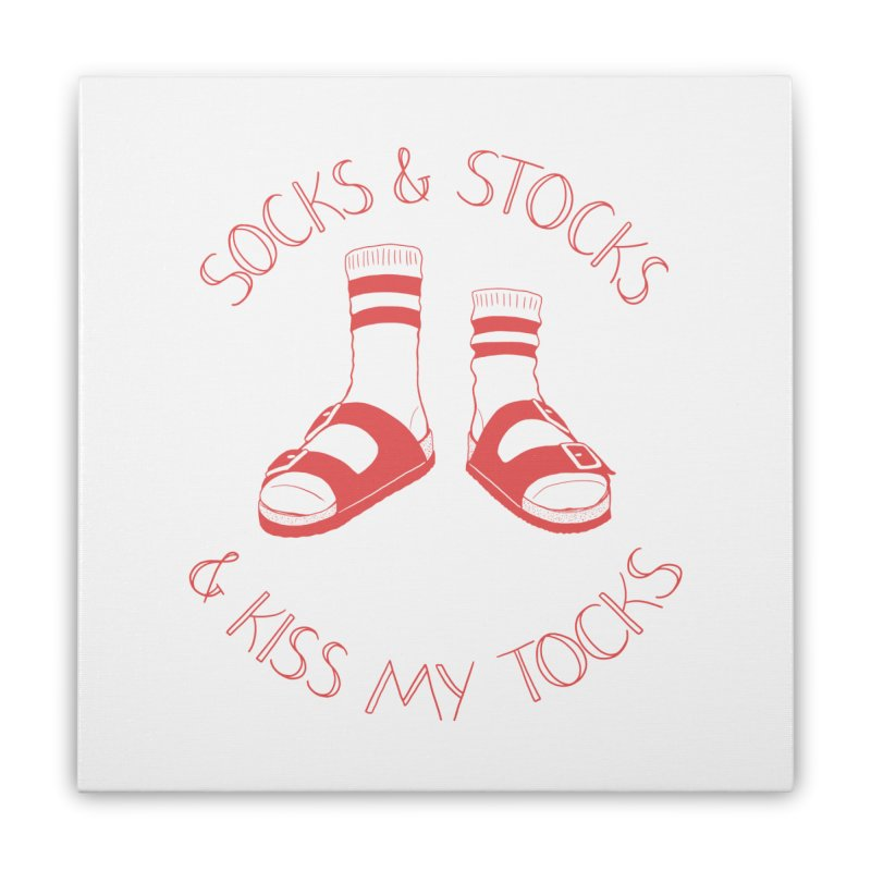 Socks 'n Stocks Home Stretched Canvas by Lupi Art + Illustration
