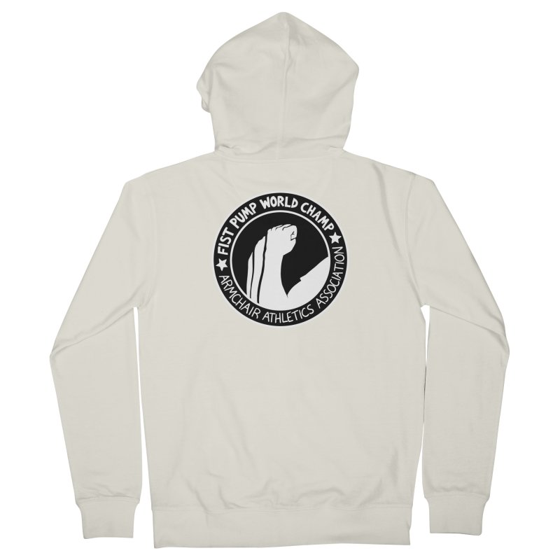 Fist Pump World Champ Men's Zip-Up Hoody by Lupi Art + Illustration