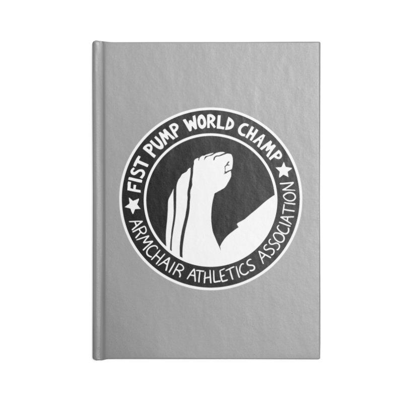 Fist Pump World Champ Accessories Notebook by Lupi Art + Illustration