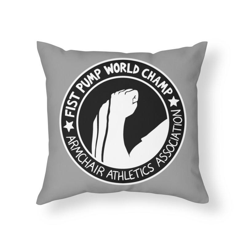 Fist Pump World Champ Home Throw Pillow by Lupi Art + Illustration
