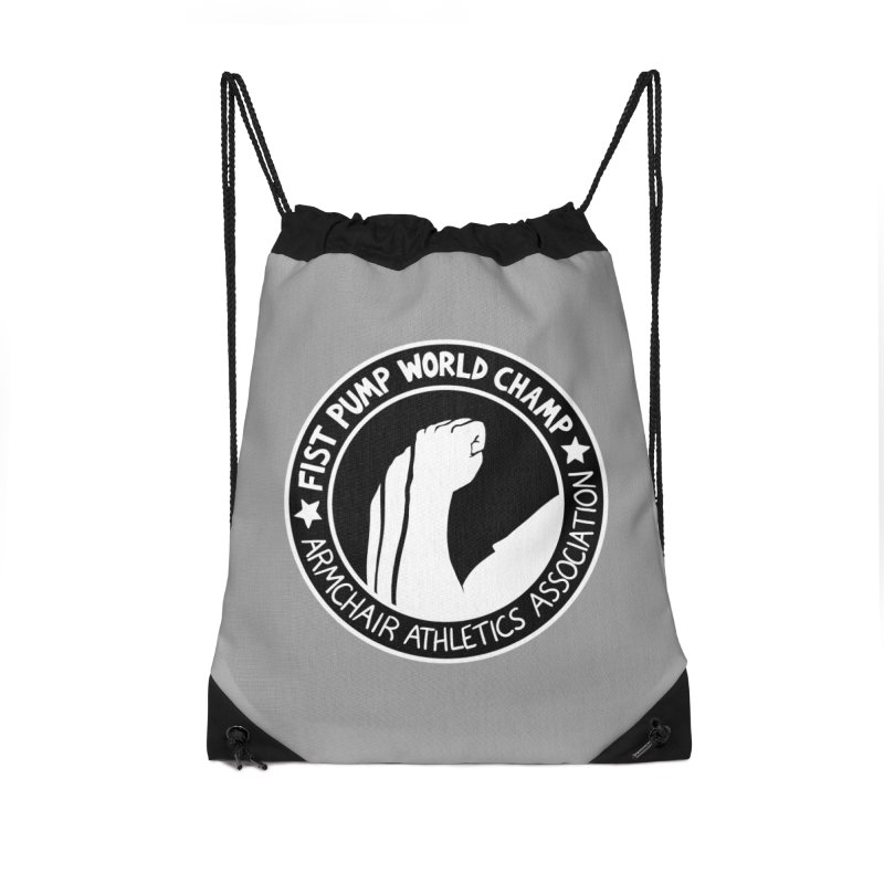 Fist Pump World Champ in Drawstring Bag by Lupi Art + Illustration