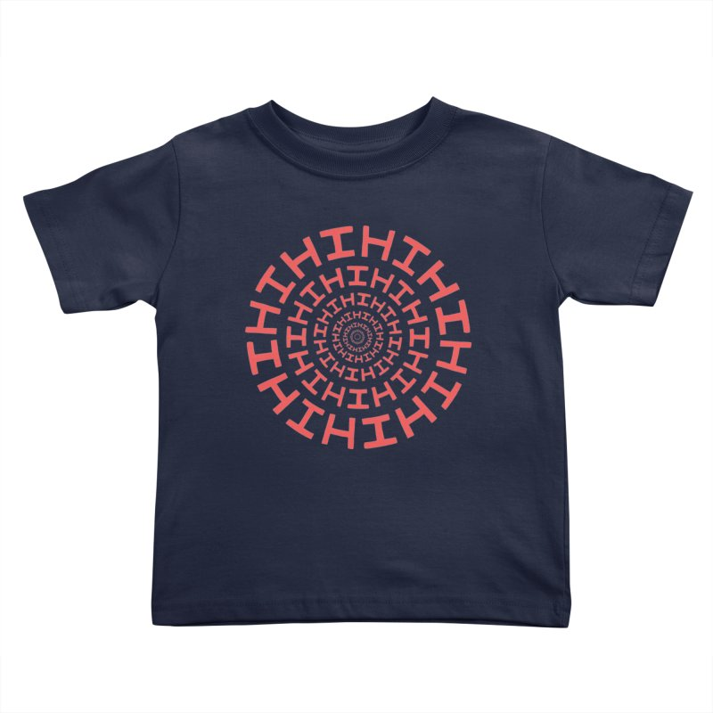 Hi hi hi (it's a red letter day) Kids Toddler T-Shirt by Lupi Art + Illustration