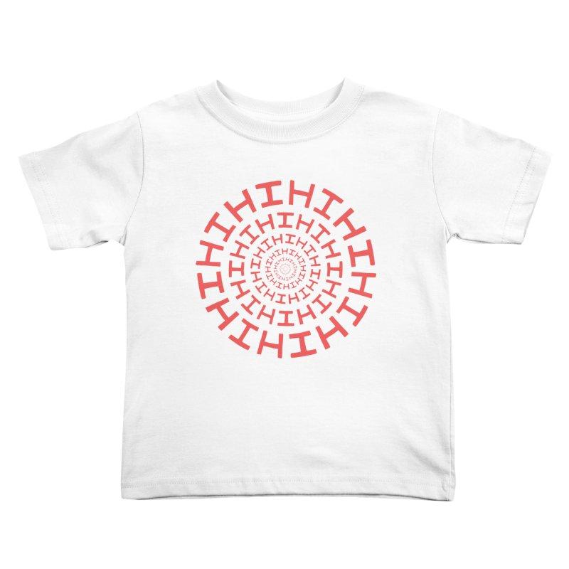 Hi hi hi (it's a red letter day) Kids Toddler T-Shirt by Lupi Art + Illustration