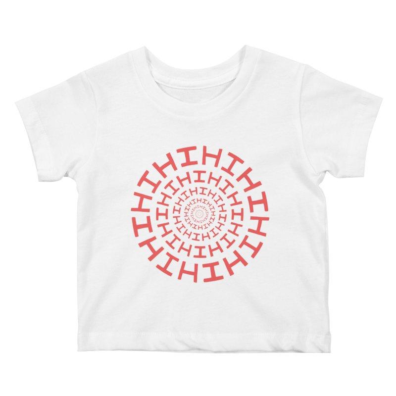 Hi hi hi (it's a red letter day) Kids Baby T-Shirt by Lupi Art + Illustration