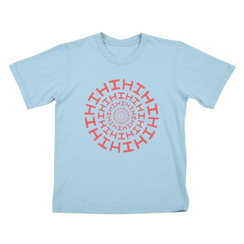 Hi hi hi (it's a red letter day) Kids T-Shirt by Lupi Art + Illustration