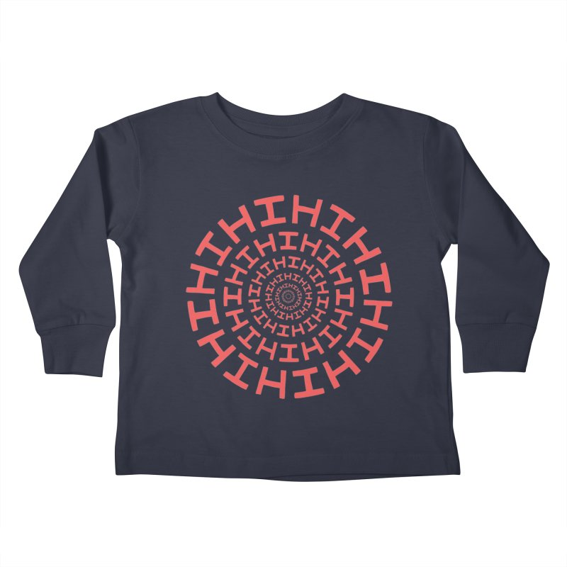 Hi hi hi (it's a red letter day) Kids Toddler Longsleeve T-Shirt by Lupi Art + Illustration