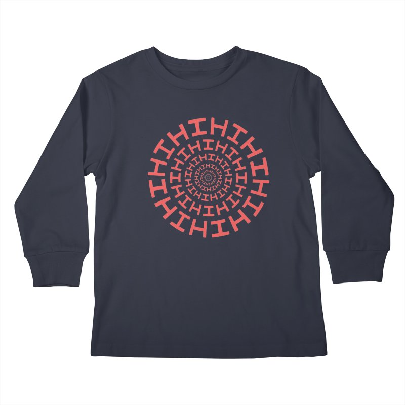 Hi hi hi (it's a red letter day) Kids Longsleeve T-Shirt by Lupi Art + Illustration