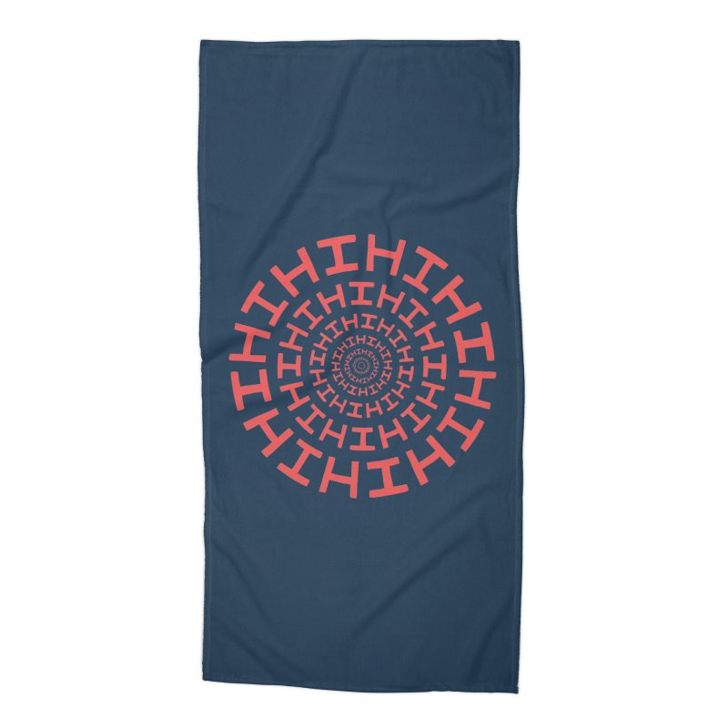 Hi hi hi (it's a red letter day) Accessories Beach Towel by Lupi Art + Illustration