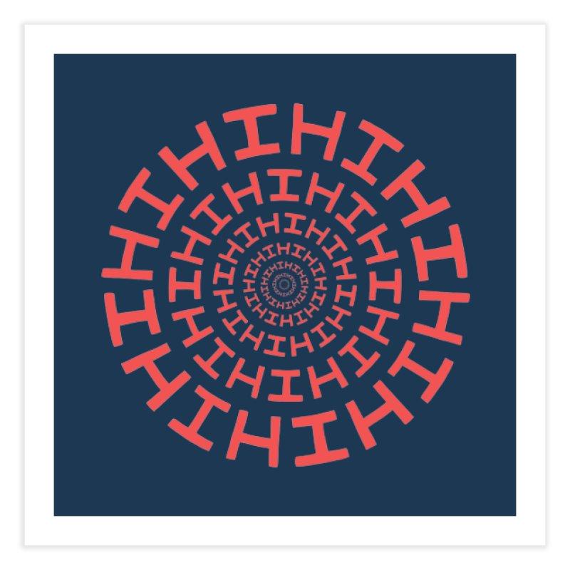 Hi hi hi (it's a red letter day) Home Fine Art Print by Lupi Art + Illustration