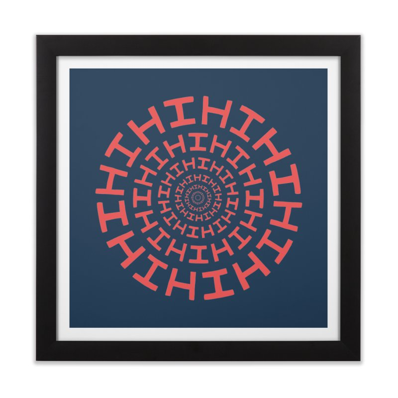 Hi hi hi (it's a red letter day) Home Framed Fine Art Print by Lupi Art + Illustration