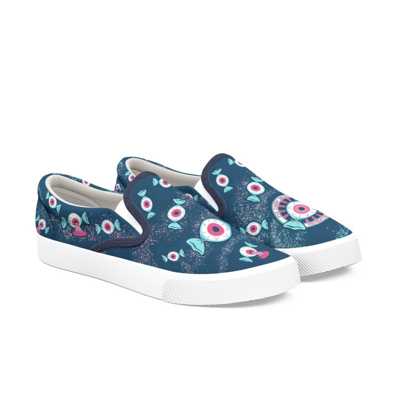 Eye Candy Badge Women's Slip-On Shoes by Lupi Art + Illustration