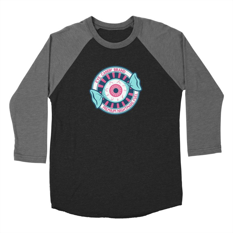Eye Candy Badge Women's Baseball Triblend Longsleeve T-Shirt by Lupi Art + Illustration