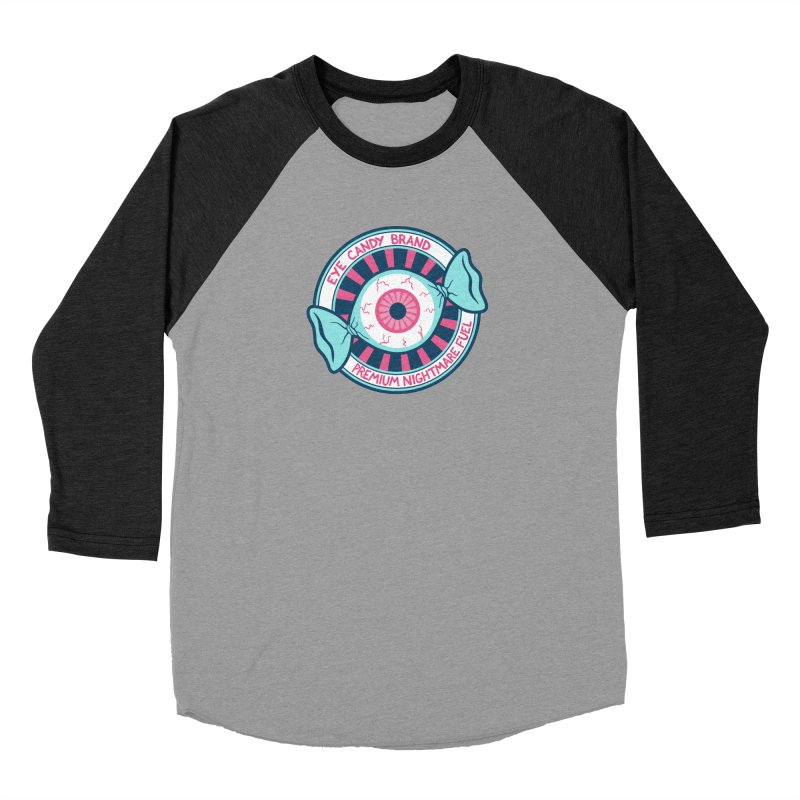 Eye Candy Badge Men's Baseball Triblend Longsleeve T-Shirt by Lupi Art + Illustration